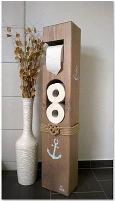 Klorollenhalter Mit Bürste - toilettenpapierhalter maritim holz mitherzundholz auf