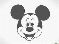 micky maus kopf schwarz kinder ausmalbilder