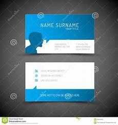 business card template blue modern simple blue business card template with user