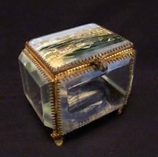 ancienne boite 224 bijoux verre biseaut 233 xix 232 me verre