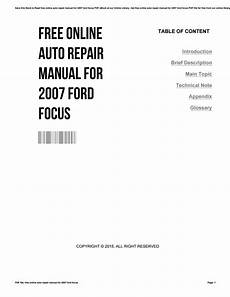 free online car repair manuals download 2005 ford thunderbird free book repair manuals free online auto repair manual for 2007 ford focus by rogerlopez2682 issuu
