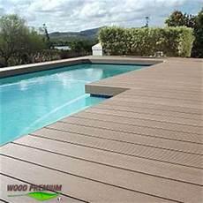 Terrasse Beton Teinté Plage Piscine En Bois Composite Wood Premium