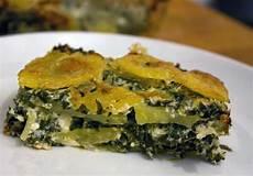 Kartoffel Spinat Auflauf Mahlzeit