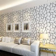wohnzimmer tapete modern black and white geometric non woven wallpaper modern
