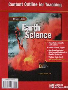 earth science glencoe worksheets 13304 glencoe earth science chapter resources 4 rocks p 0078269350 18 95 k 12 quality used