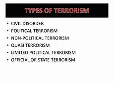 terrorism causes and types