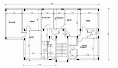 free autocad house plans dwg download free home plan with column layout drawing free