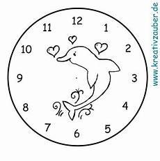 Malvorlagen Uhren Kostenlos Lernuhr Basteln Anleitung Und Bastelvorlage Kreativzauber 174