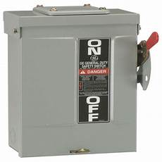 fuse box outside ge 60 240 volt non fuse outdoor general duty safety switch tgn3322r the home depot