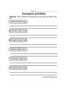 basic punctuation worksheets ks1 20721 end marks punctuation worksheet 1 punctuation worksheets worksheets teaching