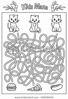 maze coloring page children labyrinth stock vector