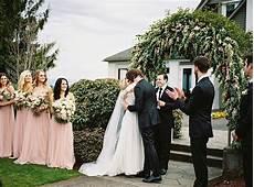 black tie garden wedding ceremony in oregon once wed