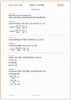 probability exercises with answers 5932 ncert solutions for class 12 maths chapter 13 probability ex 13 1 exercise 13 1