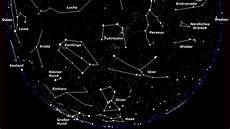 sterne sternbilder in der winternacht den feind im auge
