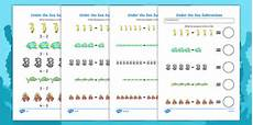 subtraction worksheets twinkl 10271 the sea subtraction worksheet numeracy numbers