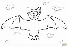 bat coloring page free printable