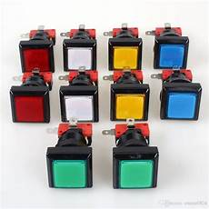33x33mm Square Push Button Arcade by Best Factory Price 33mm Square Machine Push Button