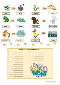 animal homes worksheets 13902 animals and their homes worksheet free esl printable worksheets made by teachers