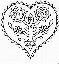 Ausmalbild Herz Blume Herz Mit Blume Ausmalbild Malvorlage Gemischt