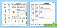 sports worksheets ks2 15817 ks1 sports day differentiated reading comprehension activity