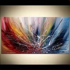 Abstrait Peinture 72 Quot Effet Bleu Froid Et Chaud