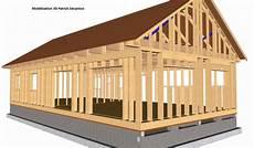 plan maison ossature bois mod 233 lisation 3d du concept basikmob maison 224 ossature bois