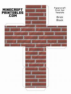 brick block minecraft brick block printable papercraft