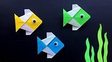 Origami Fisch Basteln Mit Papier Origami F 252 R Kinder