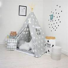 grey day children s teepee tent decorative play