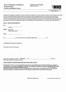 fillable form wh 381 notice of eligibility and rights and responsibilities family and medical