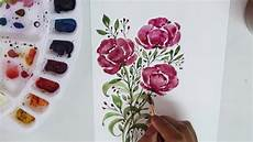 How To Paint Simple Flowers Using Water Colors