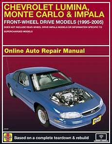 old car owners manuals 2005 chevrolet monte carlo seat position control 2005 chevrolet monte carlo haynes online repair manual select access ebay