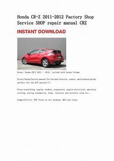 service and repair manuals 2012 honda cr z seat position control honda cr z 2011 2012 repair manual crz