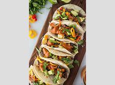 Slow Cooker Beef Fajita Tacos with Mango Sauce   Simple Roots