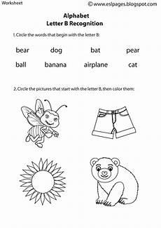 worksheets letter b 24445 esl pages alphabet worksheets