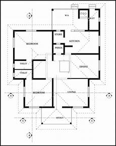 2 bedroom house plan kerala 2 bedroom traditional tharavadu design with free plan
