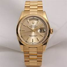 rolex day date 118238 18k yellow gold chagne ebay