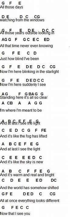 flute sheet music i see the light