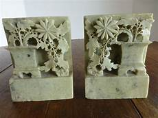 soapstone carving antique carved soapstone bookends from historique