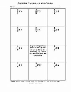 multiplying fractions by a whole number worksheet by my classbloom
