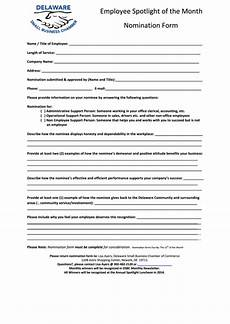 top 15 employee of the month nomination form templates free to download in pdf format