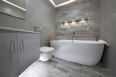Wood Effect Bathroom Tiles And Panels Porcelain Grey