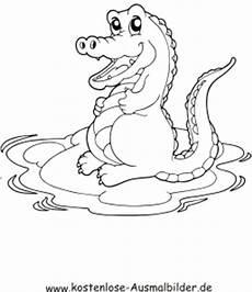 ausmalbild krokodil 2 zum ausdrucken