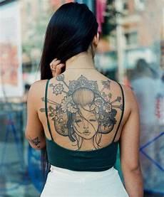 Frauen Rücken - ideen gesicht geisha r 252 cken tatoos