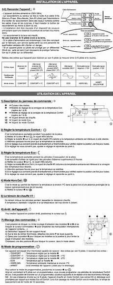 radiateur electrique thermor mode d emploi radiateur thermor r 233 f 476231 cat c