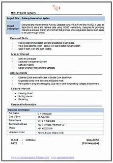 b tech it resume in boxed template with free download in