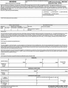 bid bond federal register federal acquisition regulation