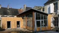 combien coute une maison ossature bois extension bois d une maison de ville