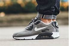 nike air max 90 leather tumbled grey sneaker bar detroit