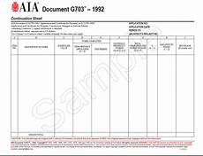 subcontractor s guide to the aia g703 continuation sheet